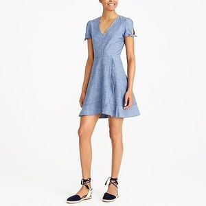 JCREW FACTORY/ chambray faux wrap dress